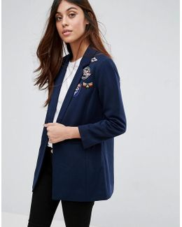 Blazer With Patches