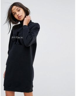 Jeans Polo Neck Logo Dress