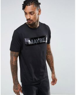 Relaxed T-shirt With Maybe/never Brushed Sequin Design