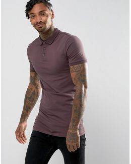 Extreme Muscle Longline Polo In Jersey