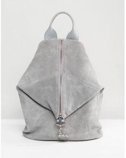 Suede Dogclip Backpack