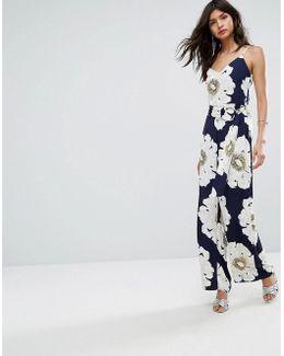 Oversized Floral Cami Jumpsuit