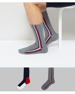 Iconic Socks In 2 Pack