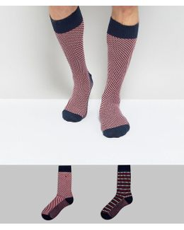 Tommy Hifliger 2 Pack Socks In Stripe