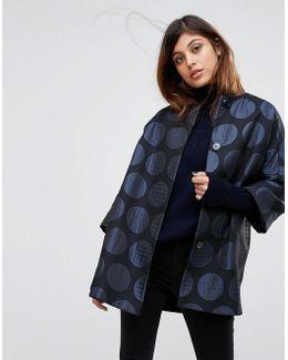 Kimono Metallic Spot Coat
