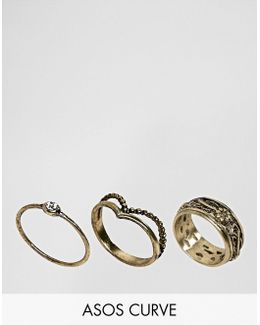Exclusive Pack Of 3 Festival Floral Ring Pack