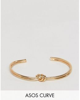 Exclusive Engraved Knot Bracelet