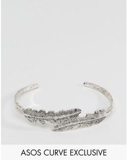Exclusive Feather Cuff Bracelet