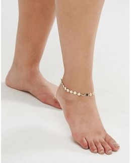 Exclusive Disc Anklet And Minimal Toe Ring Pack