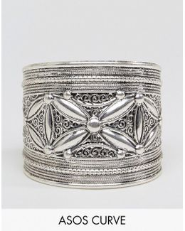 Exclusive Etched Detail Cuff Bracelet