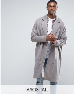 Tall Extreme Oversized Longline Jersey Duster Jacket