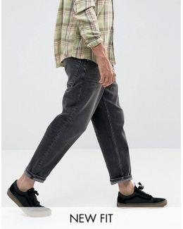Skater Jeans In Vintage Washed Black