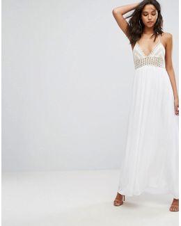 Crochet Top Maxi Dress