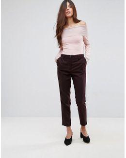 Valina Wool Blend Tailored Pants