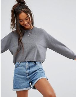 Sweater In Boxy Crop