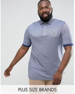 Plus Boris Polo Slim Fit Flag Logo In Blue