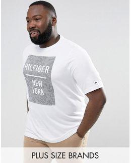 Plus Baxter T-shirt Box Logo Print Regular Fit In White