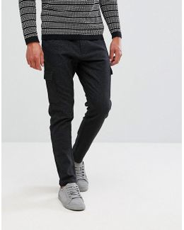 Cargo Trouser With Fleck Detail