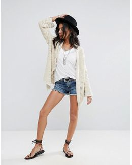 Uptown Frayed Hem Denim Shorts