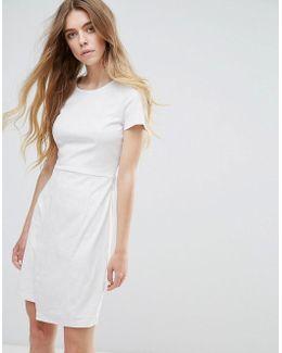 Faux Suede Festival Wrap Dress