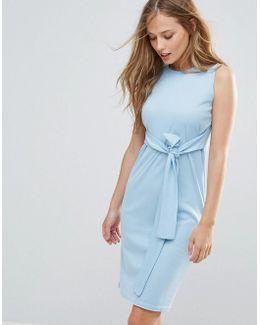 Sleeveless Dress With Tie Waist