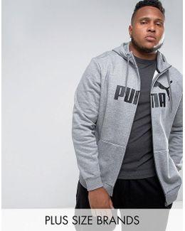 Plus Ess No1 Zip-up Hoodie In Grey 83825903