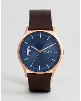 Skw6395 Holst Leather Watch In Tan