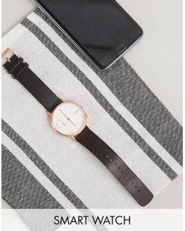 Connected Skt1112 Jorn Leather Hybrid Smart Watch