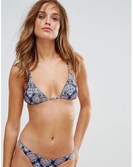 Bond Eye Thirsty Hearts Triangle Bikini Top