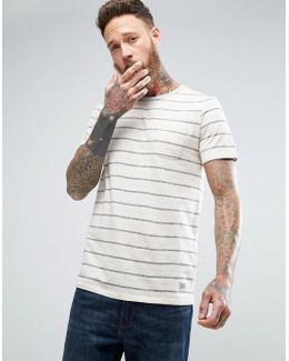 Vintage T-shirt With Washed Stripe