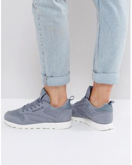 Classic Leather Mn Trainers In Grey