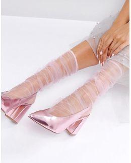 Sheer Stripe Socks