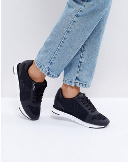 Jeans Taline Black Mesh Sneakers