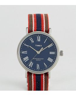 Fairfield Avenue Reversible Nato Watch With Blue Dial Exclusive To Asos