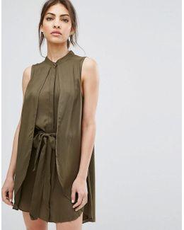 Ash Layered Dress With Belt