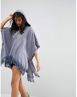 Stripes Out Knit Poncho