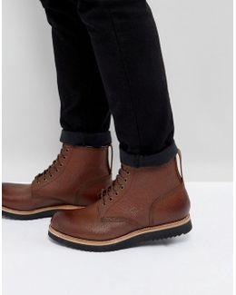 Dawson Pebble Grain Lace Up Boots
