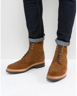 Fred Suede Brogue Boots