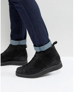 Mickey Suede Wedge Lace Up Boots