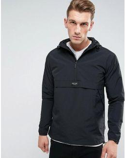 Overhead Jacket In Black With Hood