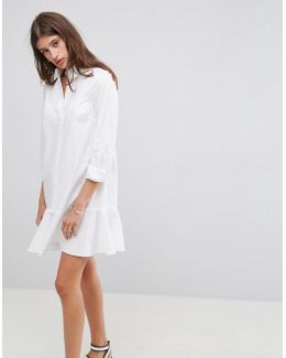 Shirt Dress With Pep Hem