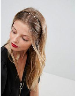 Fine Pearl & Stone Hairband