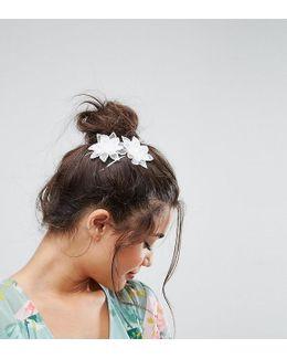 Pack Of 2 Crochet Flower Hair Slides