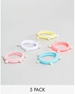 Pack Of 5 Multi-colored Hairbands
