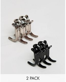 Pack Of 2 Curved Claw Clips