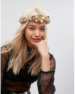 Gold Flower Hair Garland