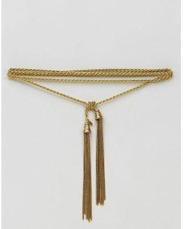 Tassel Bolo Necklace