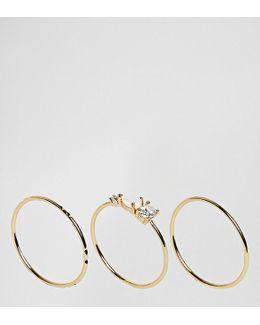 Delicate Gem Ring Set