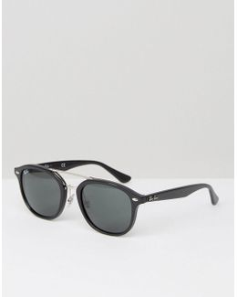 Wayfarer Sunglasses With Silver Double Brow 0rb2183