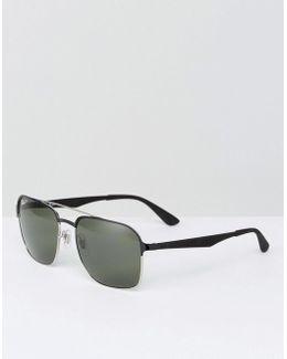 Square Aviator Sunglasses 0rb3570
